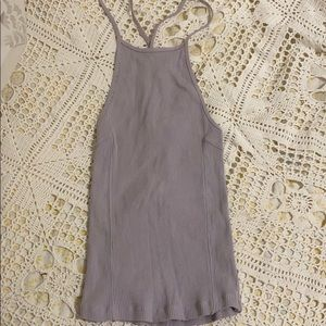 Free People Lilac Crossback Tank Top